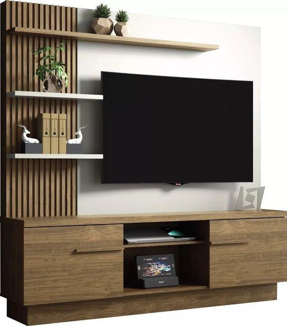 Dekoratif Tv duvar ünitesi 3 1