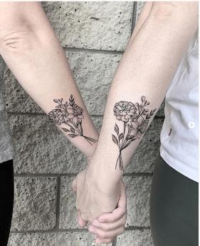 En İyi Arkadaşınızla İstediğiniz Yaratıcı Dövmeler 8