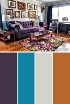 Mor Renkte Salon Dekorasyonu 11