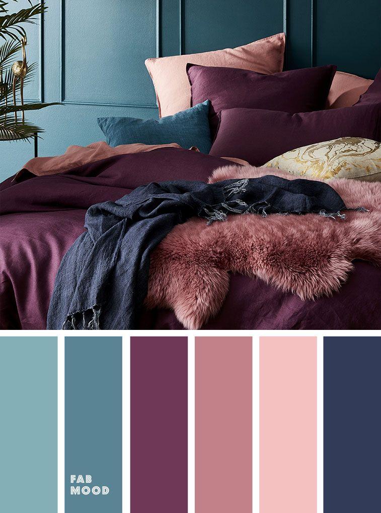 Mor Renkte Salon Dekorasyonu 12