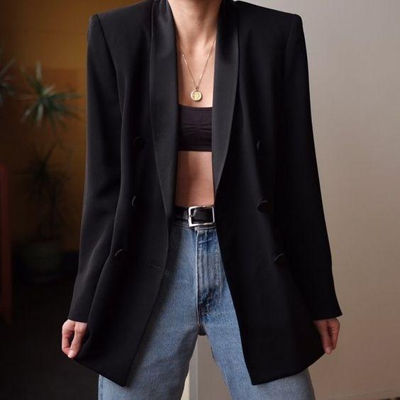 Stil İpuçları Siyah Blazer Ceket 7