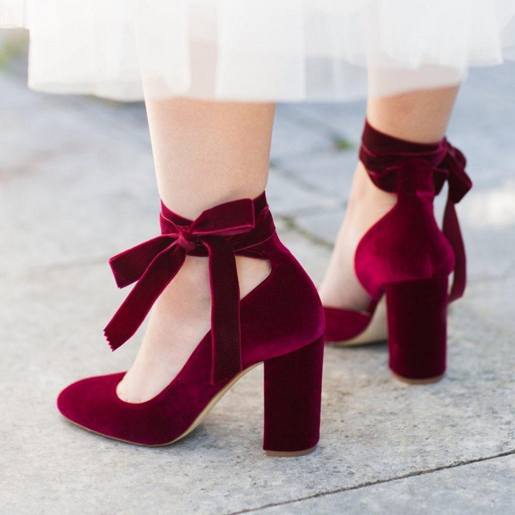 kadife topuklu ayakkabı 17