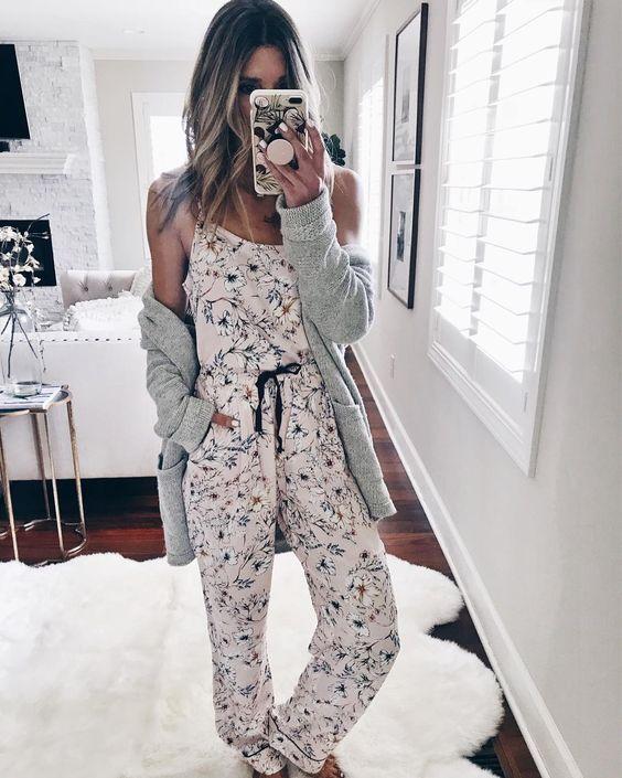 lkbahar ve Yaz için Rahat ve Şık Pijama modelleri 20