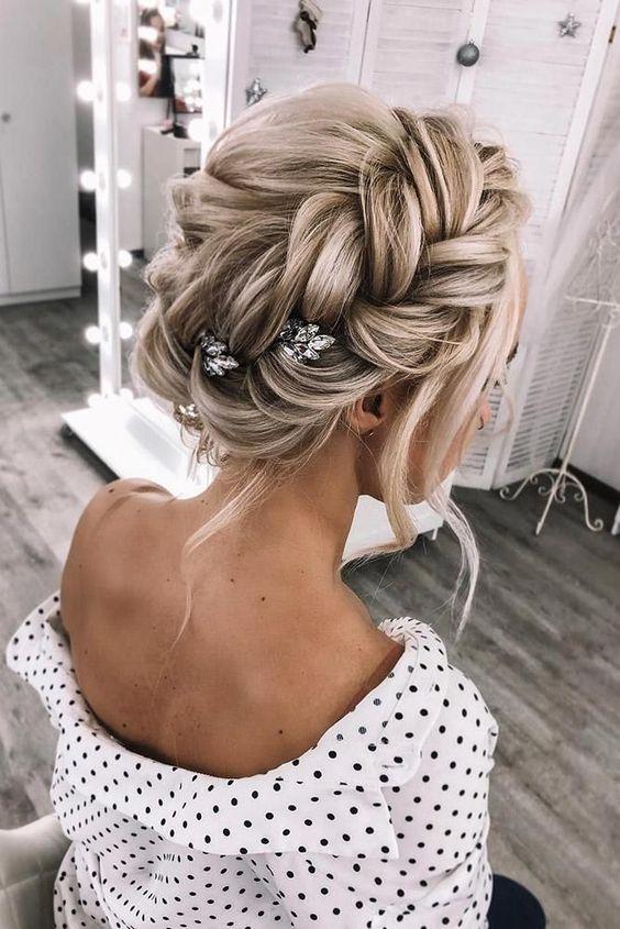 2019 2020 düğün saç modeller 5
