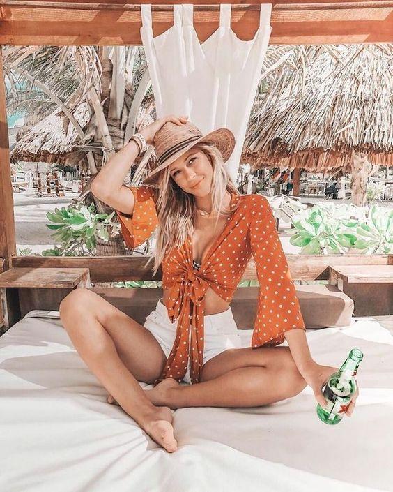 2020 için 20 Trend ve Şık Plaj Kıyafetleri Fikirler 1