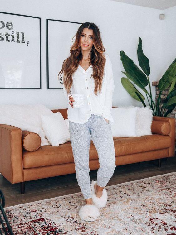2020 için 26 Rahat ve Sevimli Ev Giyimleri 13