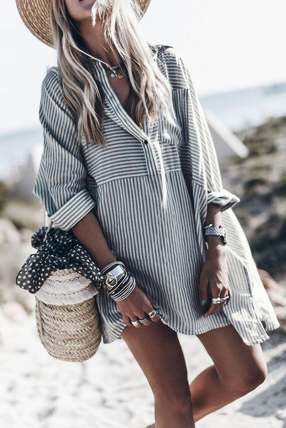 2020 için 28 İnanılmaz Çarpıcı Gömlek Elbise Fikirleri 19