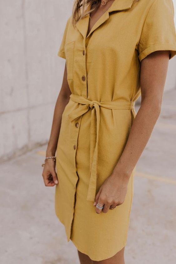 2020 için 28 İnanılmaz Çarpıcı Gömlek Elbise Fikirleri 29