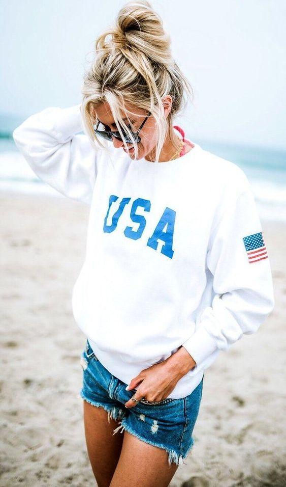 26 Amerikan tarzı Kızlar için Kıyafet Fikirleri 9
