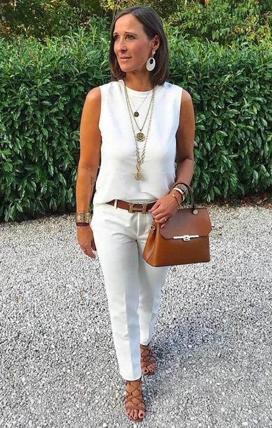40 yaş üstü kadınlar için 25 şık yazlık kıyafet 13