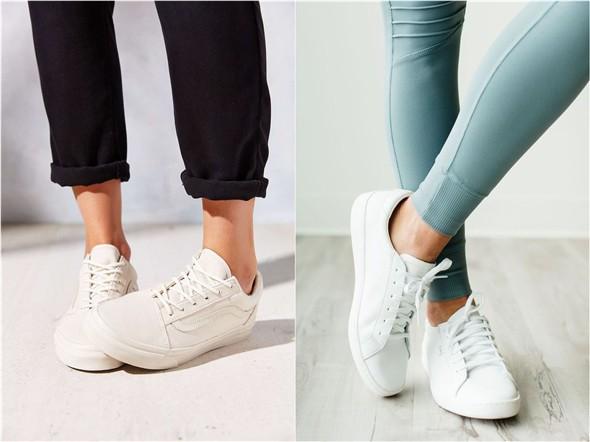 Her Durum için Rahat Beyaz Spor Ayakkabı modelleri 10