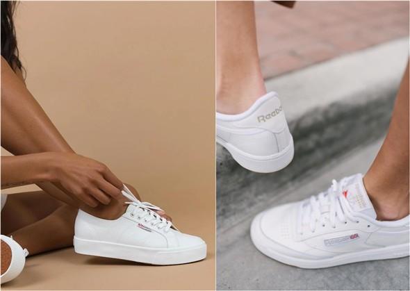 Her Durum için Rahat Beyaz Spor Ayakkabı modelleri 11
