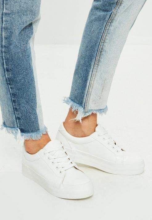 Her Durum için Rahat Beyaz Spor Ayakkabı modelleri 16