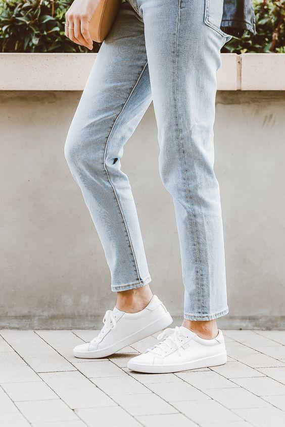 Her Durum için Rahat Beyaz Spor Ayakkabı modelleri 24