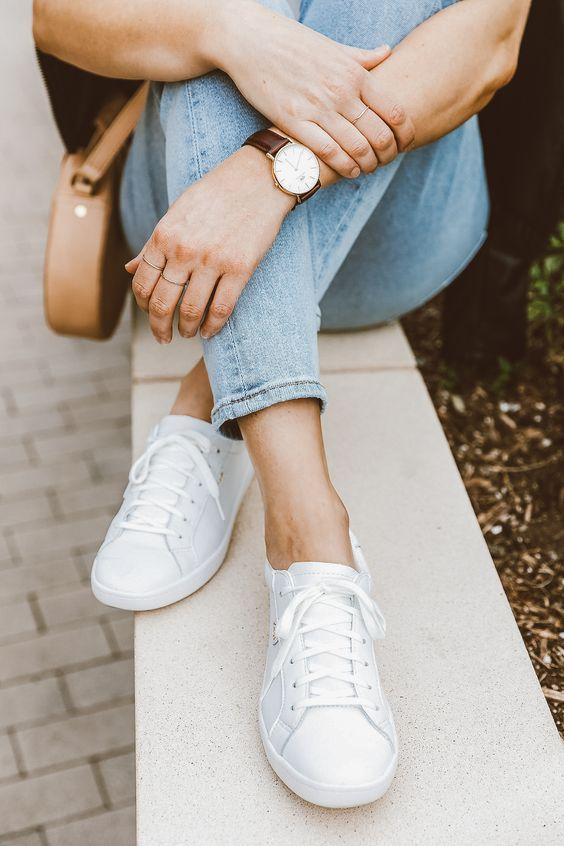 Her Durum için Rahat Beyaz Spor Ayakkabı modelleri 30
