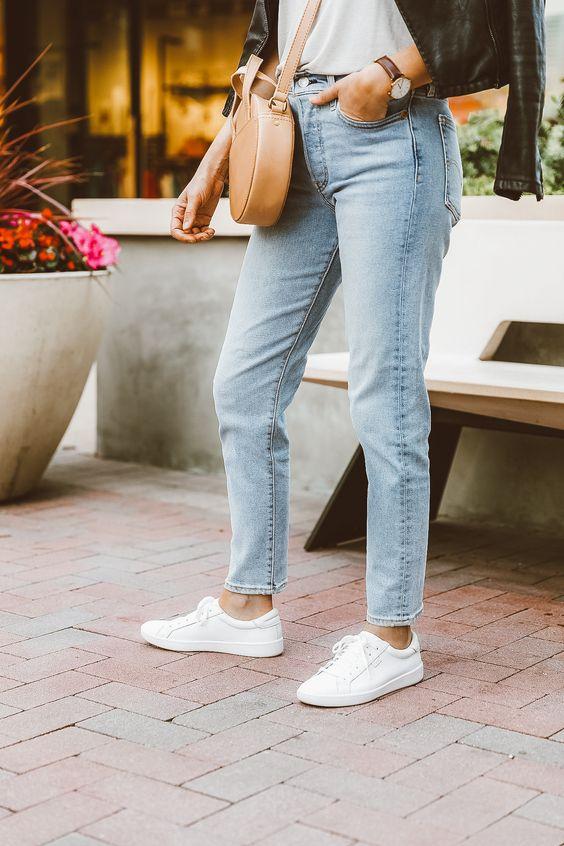 Her Durum için Rahat Beyaz Spor Ayakkabı modelleri 31