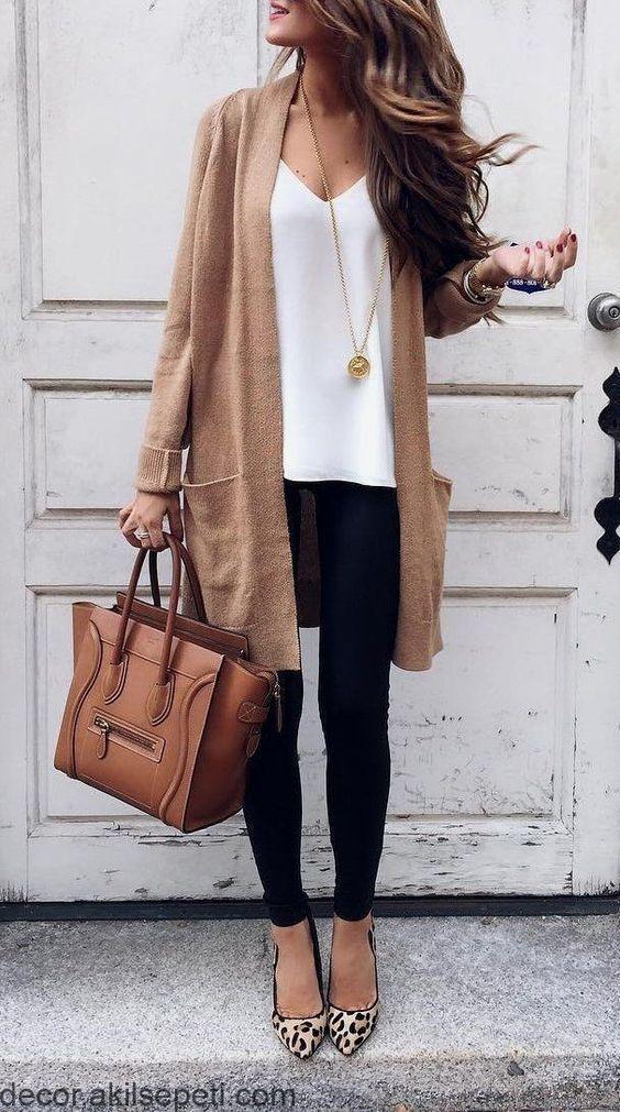 Her Mevsim Tayt ile Rahat Kıyafetler Fikirler 14