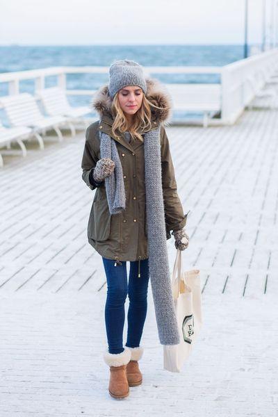 Kış için rahat ve şık UGG botları fikirler 15