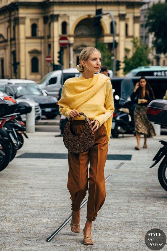 Moda Haftası 2020den İlham Verici Sokak Stilleri 27