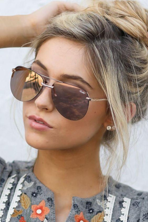 Modayı seven Kızlar için Çarpıcı Güneş Gözlüğü 1