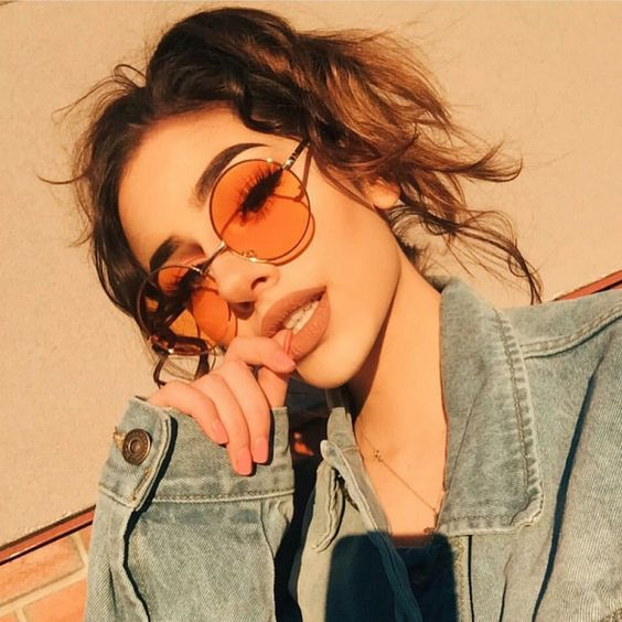 Modayı seven Kızlar için Çarpıcı Güneş Gözlüğü 10