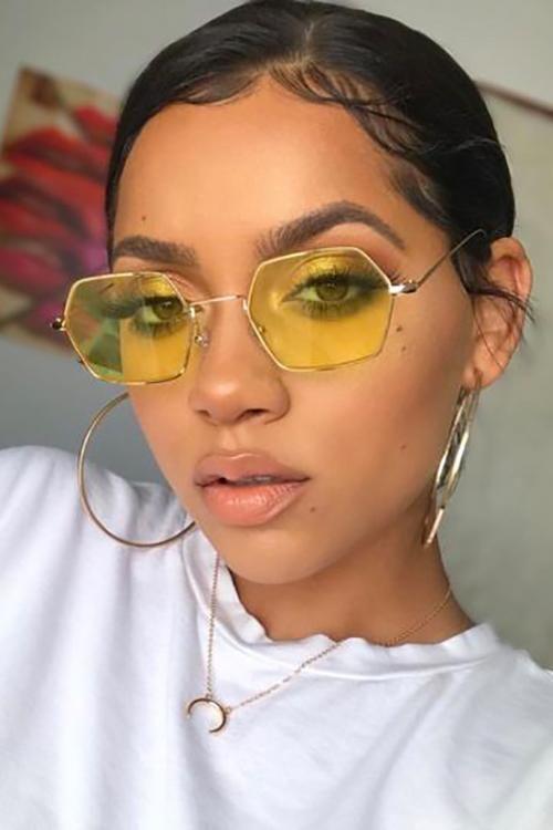 Modayı seven Kızlar için Çarpıcı Güneş Gözlüğü 13