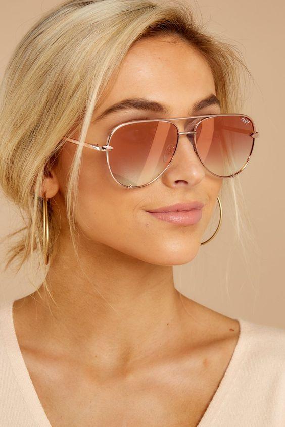 Modayı seven Kızlar için Çarpıcı Güneş Gözlüğü 14