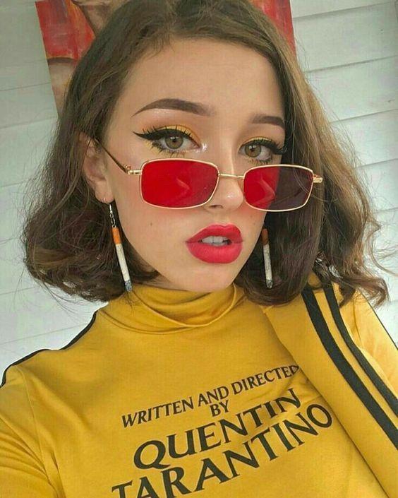 Modayı seven Kızlar için Çarpıcı Güneş Gözlüğü 15
