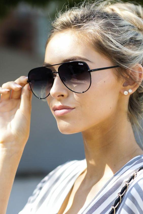 Modayı seven Kızlar için Çarpıcı Güneş Gözlüğü 20