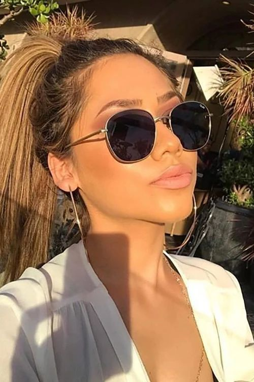 Modayı seven Kızlar için Çarpıcı Güneş Gözlüğü 22
