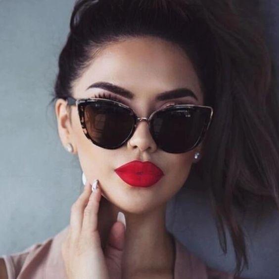 Modayı seven Kızlar için Çarpıcı Güneş Gözlüğü 5