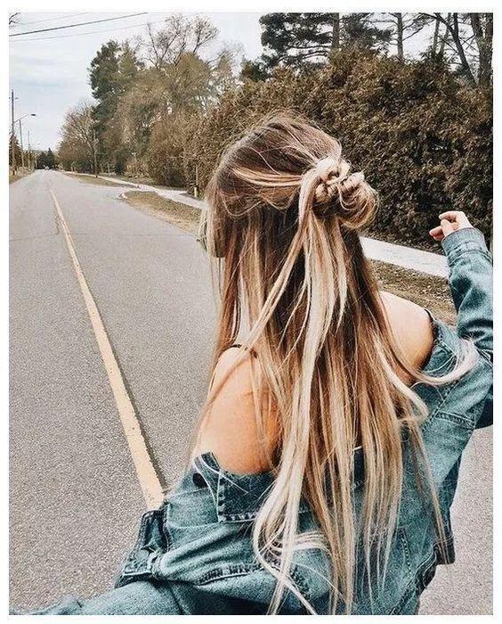 Okul için Sevimli ve Kolay Uzun Saç Modelleri 14