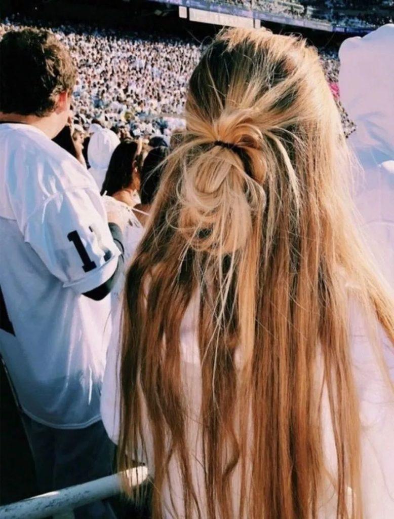 Okul için Sevimli ve Kolay Uzun Saç Modelleri 17