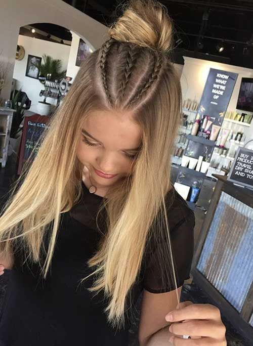 Okul için Sevimli ve Kolay Uzun Saç Modelleri 26
