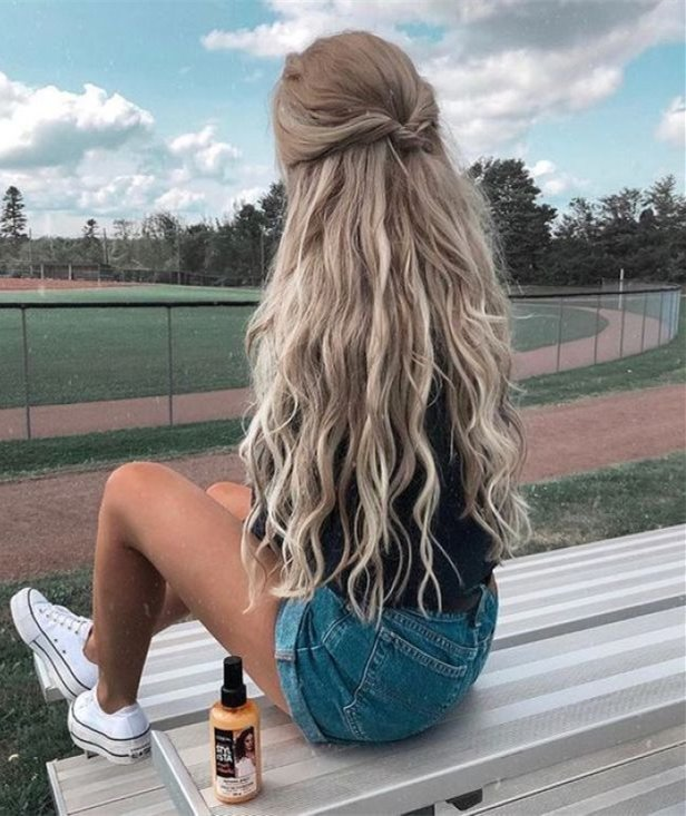Okul için Sevimli ve Kolay Uzun Saç Modelleri 28