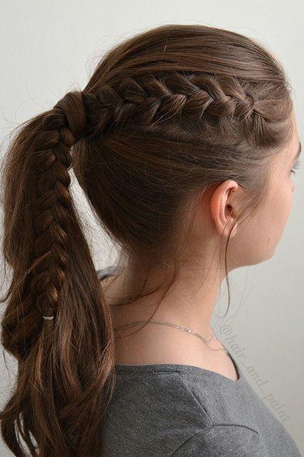 Okul için Sevimli ve Kolay Uzun Saç Modelleri 9