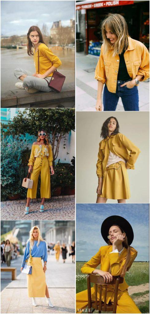 Trend 36 Sarı renk kombin Fikirleri 2