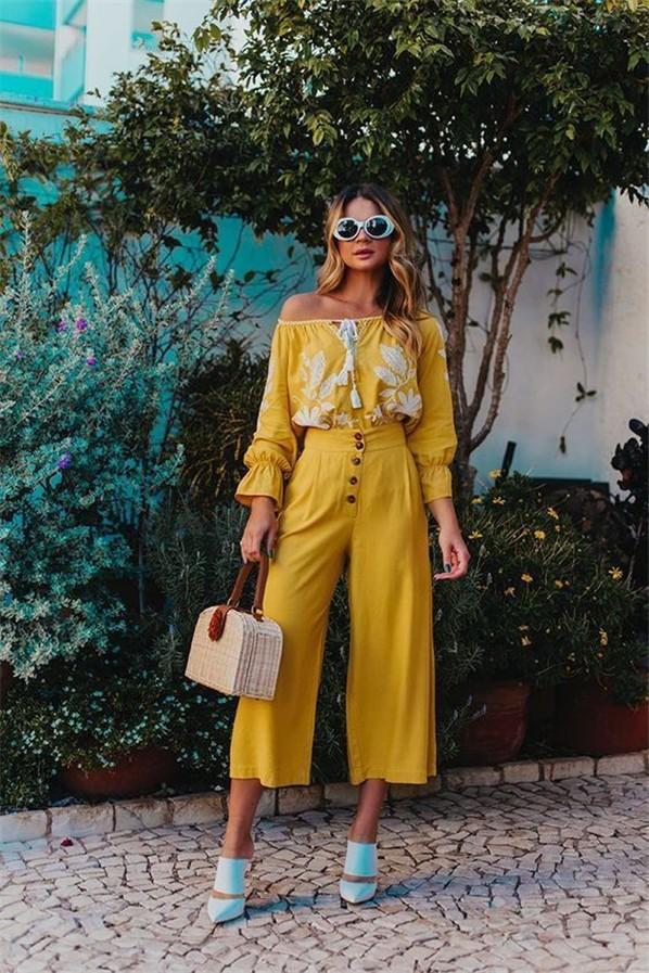 Trend 36 Sarı renk kombin Fikirleri 34