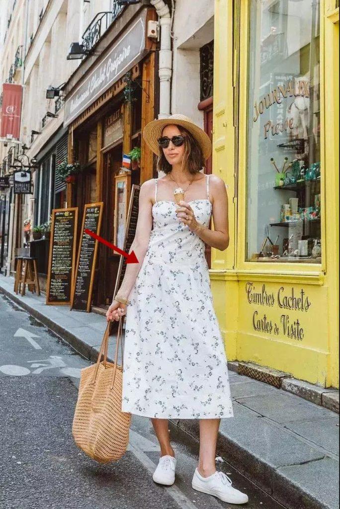 Yaz için Çiçek Baskı Elbiseleri modelleri 26