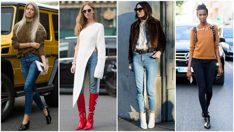 skinny jeans kazakla eşleştir