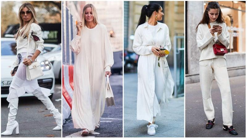 beyaz gündelik kıyafet