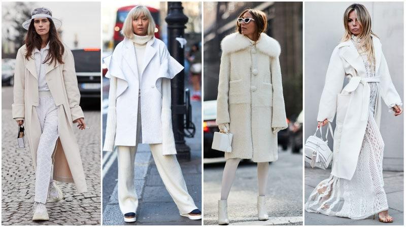 beyaz kış kıyafeti