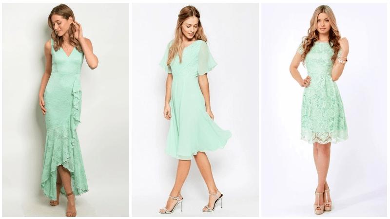 nane yeşili elbise