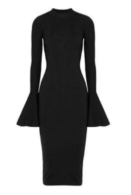 Düğün için Küçük Siyah Elbise 4