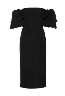 klasik siyah elbise model 3