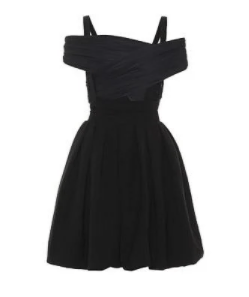 klasik siyah elbise modeli 2