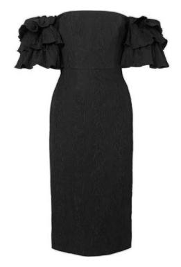 kollu siyah elbise 2