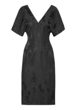 v yaka elbise 2