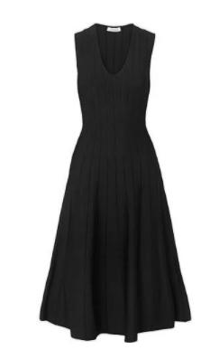 v yaka elbise 4
